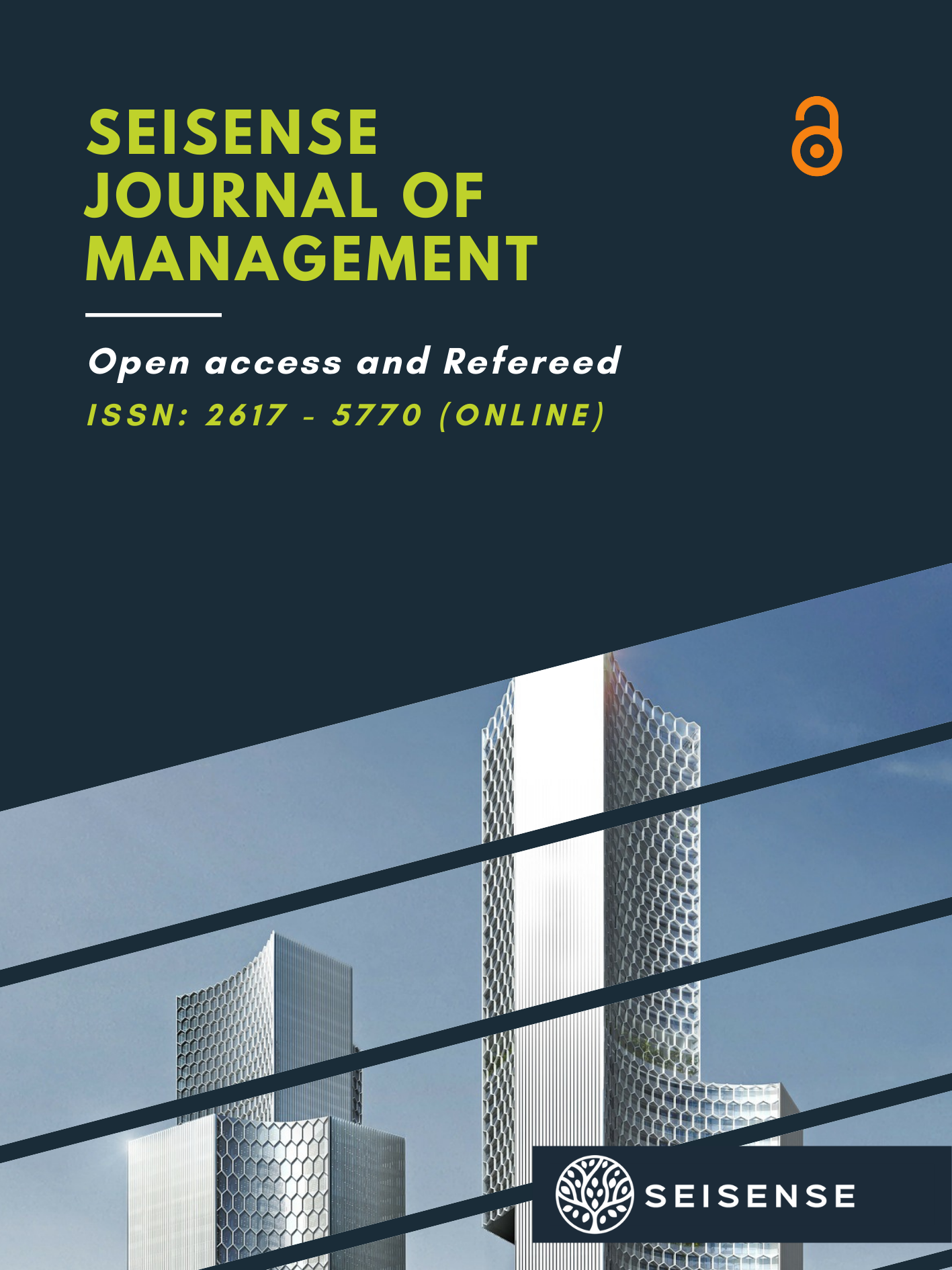 View Vol. 2 No. 6 (2019): SEISENSE Journal of Management - Kenya Special Issue